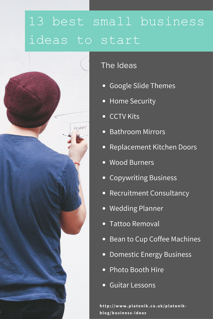 Starting A Small Business From Home Ideas Part - 29: Business Ideas Infographic