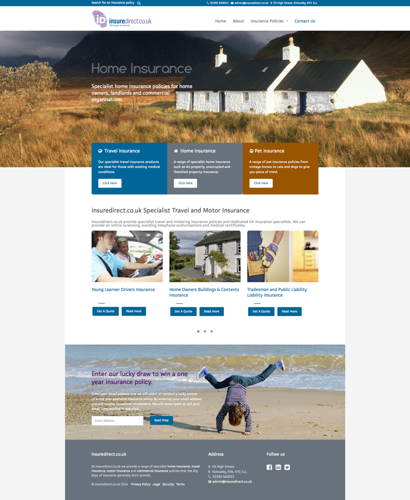 Insurance company Website Design image