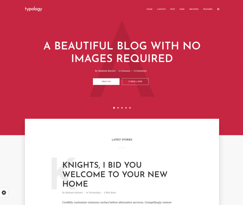 typology wordpress theme