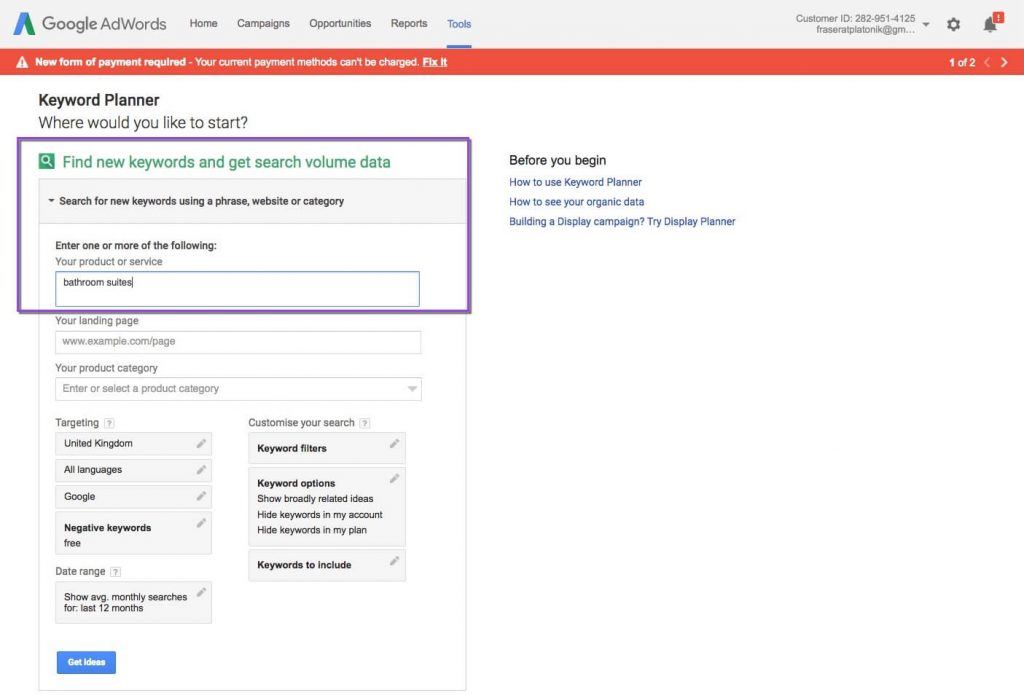 website leads using google adwords