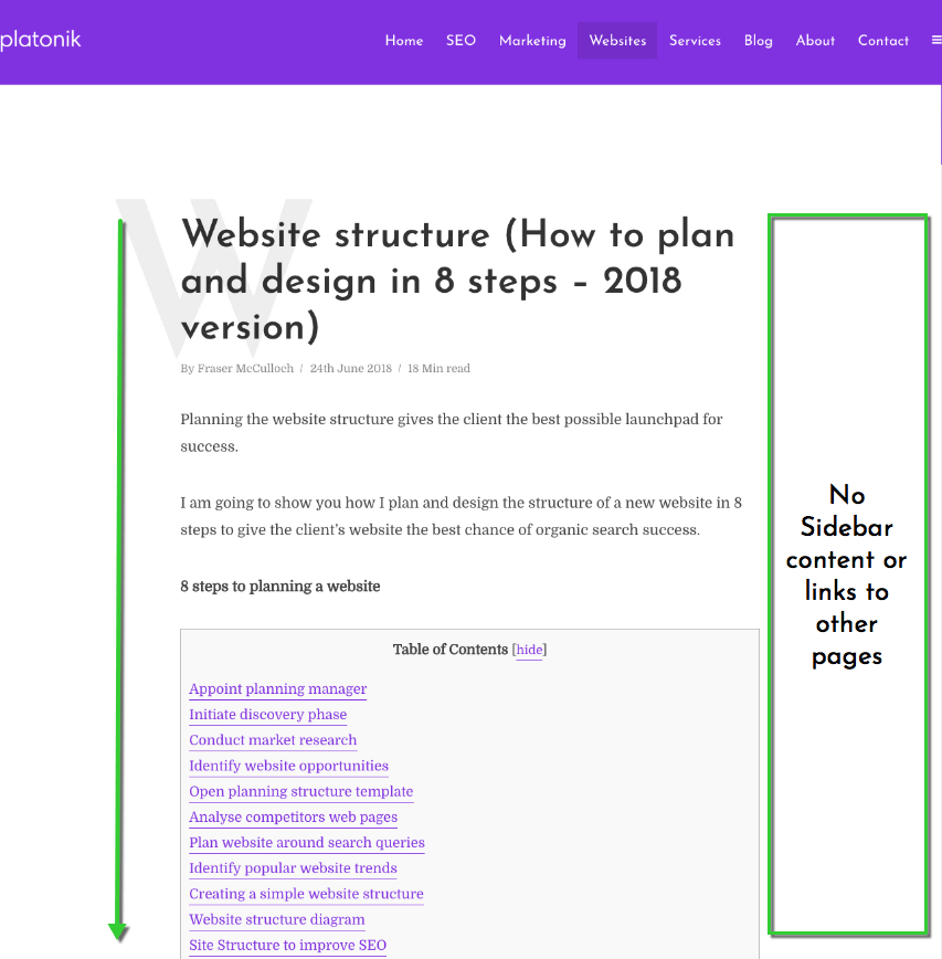 bounce rate caused by poor navigation and UX