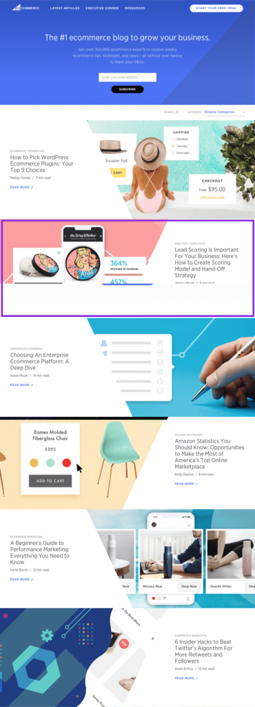 Simple box layout for blog design image