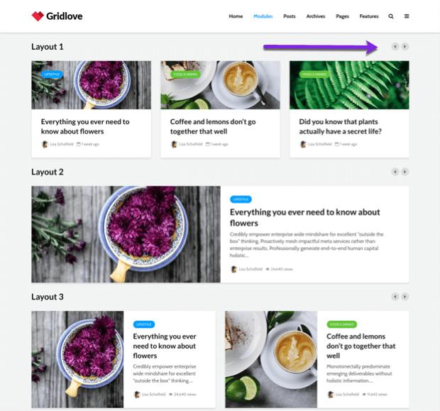 slider blog list layout design by gridlove wordpress theme