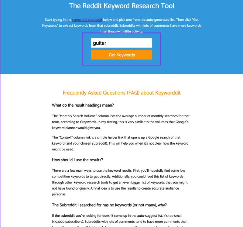reddit keyword research tool