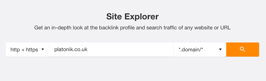 find competitor keywords with ahrefs site explorer