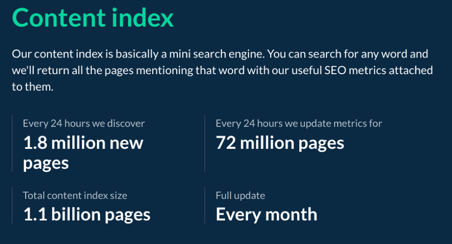 ahrefs has data on all your competitors and their keywords