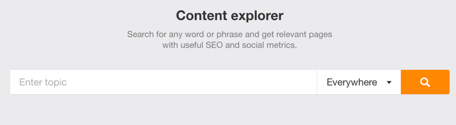 finding competitor keywords with ahrefs content explorer