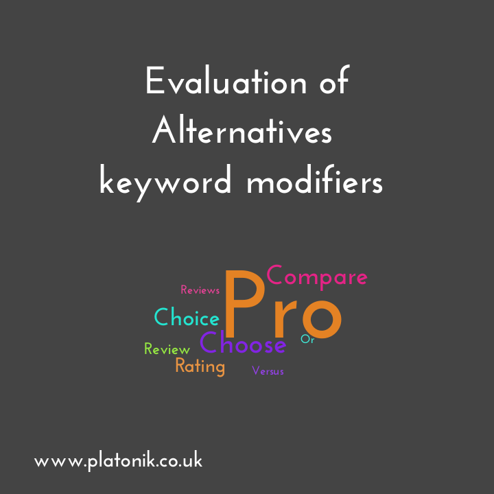 image of Evaluation of alternatives stage keyword modifiers
