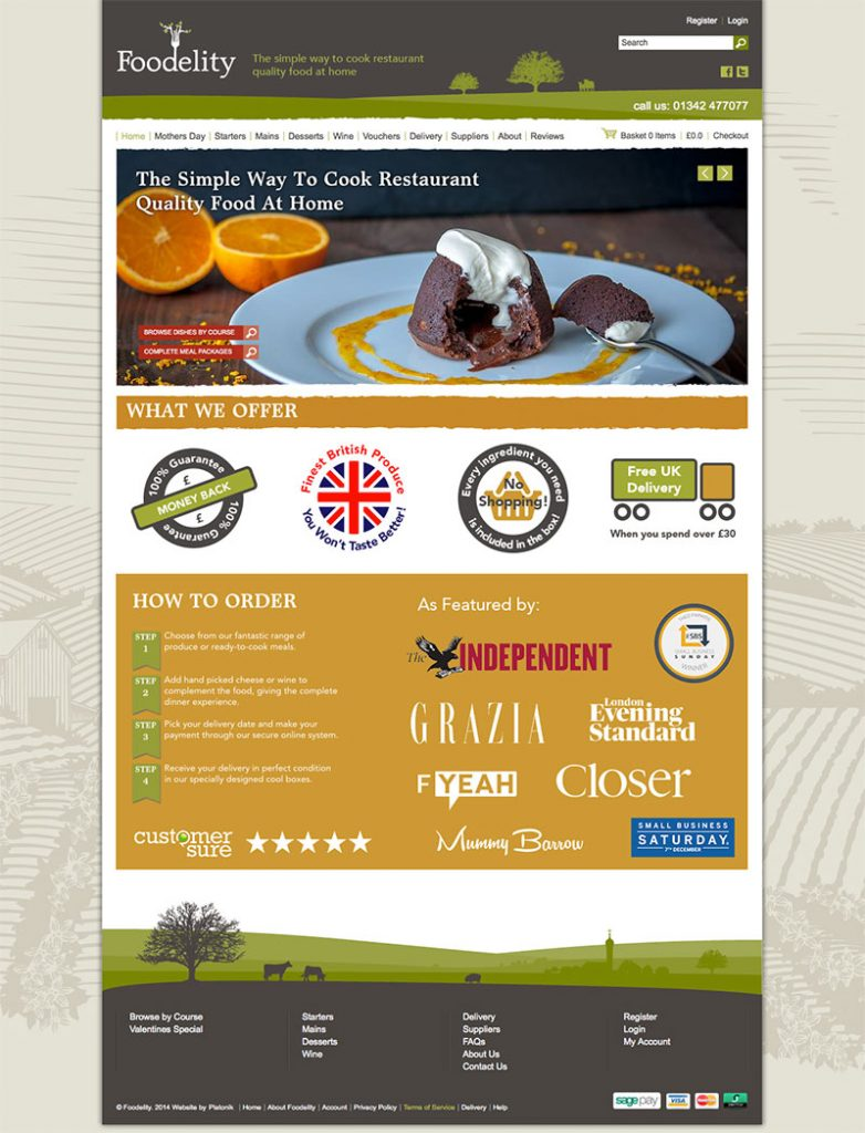 online food brand website design image