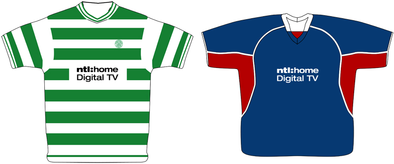 rangers and celtic ntl sponsorship