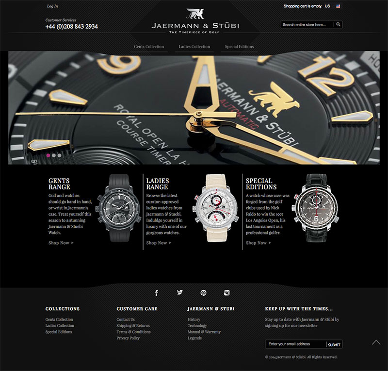 swiss watch website design image