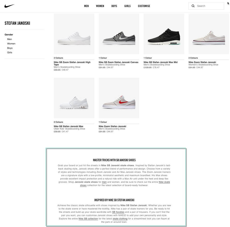 shopify collection page development