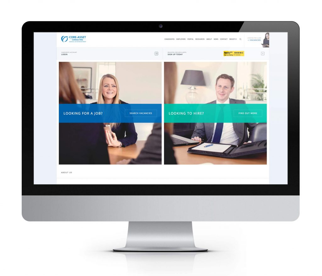 recruitment company web design example