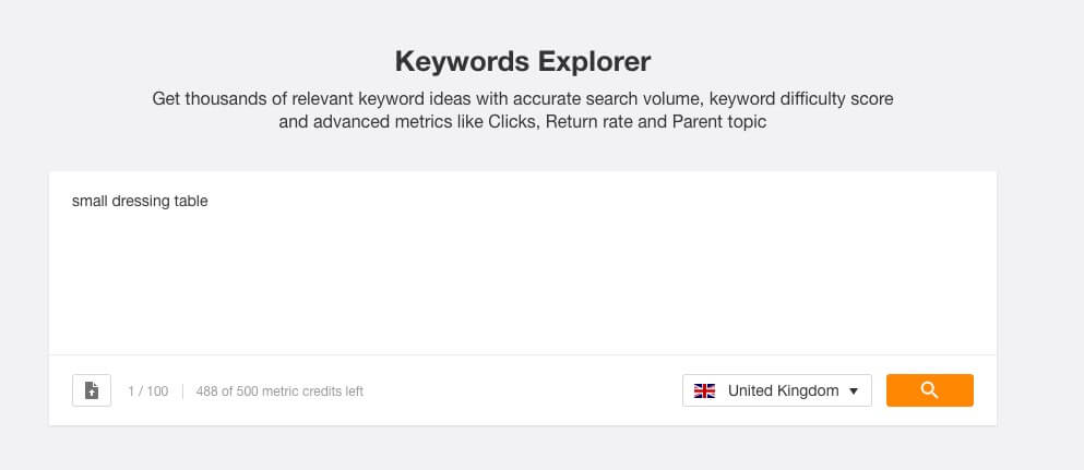 keyword research explorer