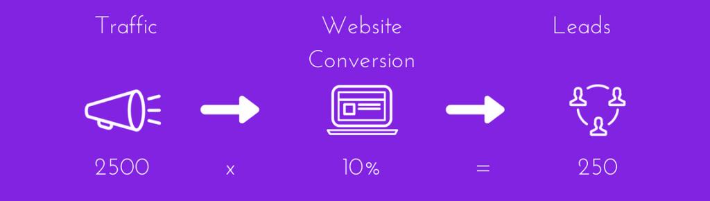 website traffic conversion lead conversion rate optimisation