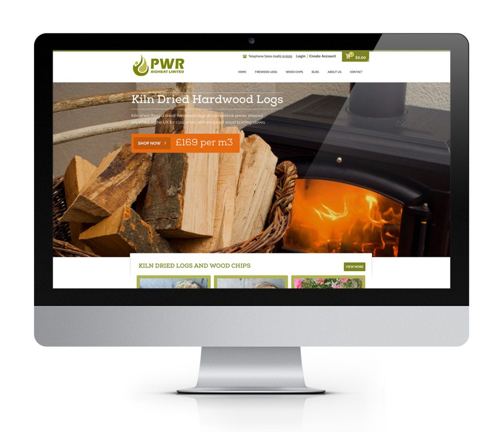 firewood website design image and example