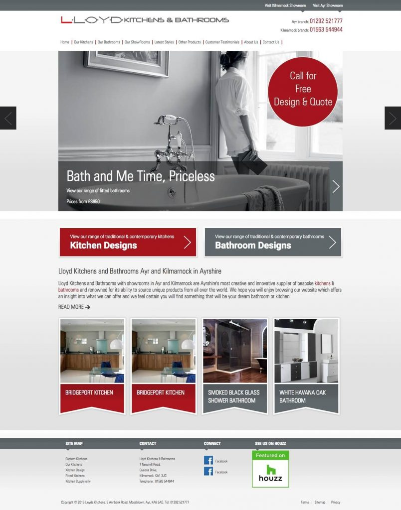 lead generation website home page example