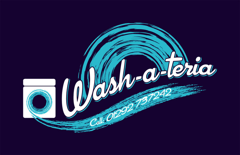 laundrette company logo design