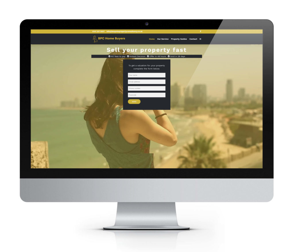 property buyers website design image